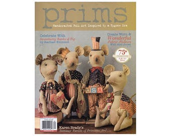 2016 Prims Magazine, Primitive Magazine, Primitives, Doll Making, Primitive Dolls, Craft Books, Folk Art Dolls by NewYorkTreasures on Etsy