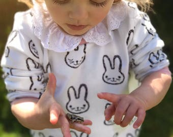 Bunny Sweatshirt, toddler sweater, baby clothes
