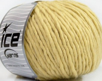 100 Gram Inca Alpaca Bulky Yarn #43736 Buttercream Ice 40 Percent Alpaca, 50 Percent Virgin Wool, 10 Percent Acrylic, 109 Yards
