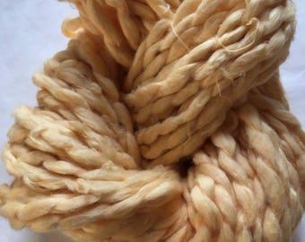 Handspun Cotton Chunky Pale Peach - Lightest Orange - Organic Saco River Dyehouse Indie Yarn Large 100 gram Hanks 82 yards