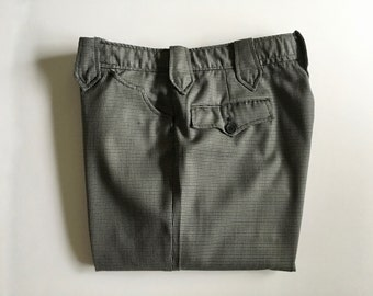Vintage Men's 70's Niver Western Wear, Pants, Houndstooth, Straight Leg (W33 x L30)