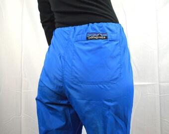 Vintage 80s Patagonia Waterproof Blue Hiking Camping Pants