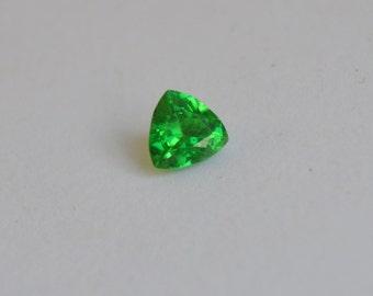 Tsvorite Trillion, Green Gemstone Trillion, Merelani Tsavorite 6mm, Borderline Mint Garnet Trillion, Neon Green Trillion Gemstone