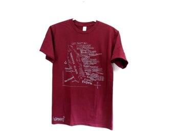 VAN ISLE Print Tee. Men's Graphic Top. ScreenPrinted Tee. Island Shirt. Vancouver Island Graphic. West Coast Best Coast. Pnw Canada Cotton