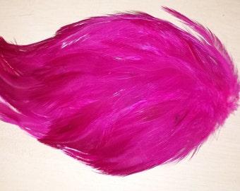 Fuchsia Hot Pink Hackle Feather Pad Wedding Crafts Headbands