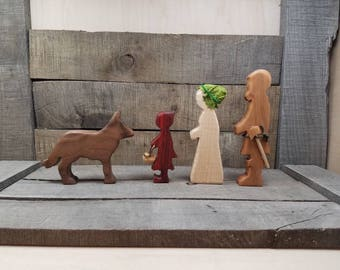 Little Red Riding Hood, Little Red Riding Hood Storytelling, Little Red Play Set, Wooden Little Red Riding Hood, Red Riding Hood Toys