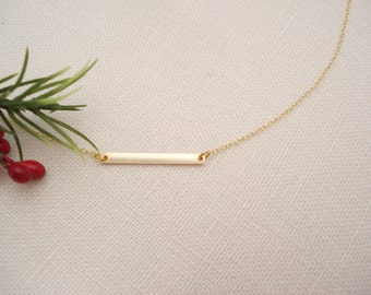 14kt. Gold-filled bar Necklace...Jewelry for simple everyday, layering, Delicate minimalist necklace, wedding, bridesmaid gift, gift for her