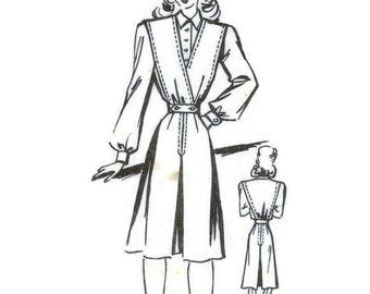 1940s Jumper Dress and Blouse Pattern B34 Ringier Patterns g6119