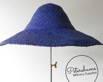 Shiny Wheatstraw Capeline Hat Body for Millinery & Hat Making - Dark Blue