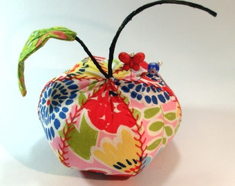 Pincushion- Modern Jazz Apple, Apple Pincushion- - Ready to Ship