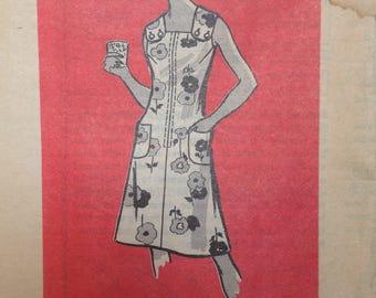 Vintage 60s Sun Dress Pattern Shoulder Buttons 34 bust