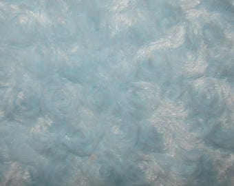"Fabric  Photo Floor Prop 36"" x 36"" baby craft blanket quilt 1 yd X 1 yard FAUX ROSE FUR sky blue"