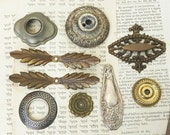 9 Salvaged Found Objects for Your Altered Art Assemblage Steampunk Craft Projects DIY Repurpose