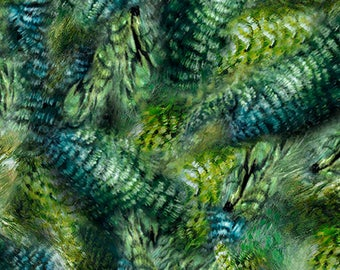Quilting Treasures - Hummingbirds - Hummingbird Feathers - Fabric by the Yard 25938-G