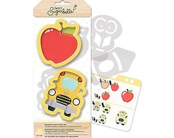 Teacher Cookie Cutters, Sweet Sugarbelle Back to School Cookie Cutters, School Bus Cookie Cutter, Apple Cookie Cutter