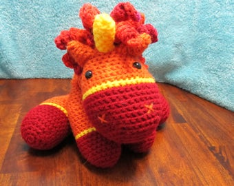 Crochet Fire Unicorn