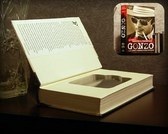 Hollow Book Safe & Flask (Gonzo: The Life of Hunter S. Thompson)
