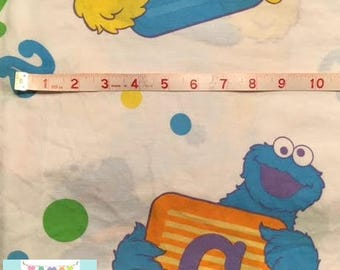 Twin Vintage Sesame Street Alphabet Fitted Sheet
