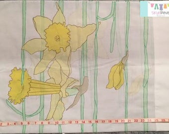 Vintage Daffodil Pillowcase