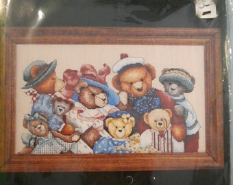 NEW Bear Collector by Janlynn Counted Cross Stitch Kit 89-51