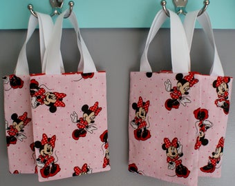 Gift Bag Fabric Gift Bag Minnie Mouse Gift Bag Favors Gift BagTote Bags and Purses Red Gift Bag Pink Gift Bag Party Gift Bags