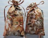 "Kittens 5""X2.5"" Sachet-'Purrs and Paws' Fragrance-Unisex Sachet-Cotton Herbal/Botanical Sachet-Cindy's Loft-682"