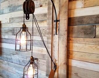 Vintage Barn Pulley Light
