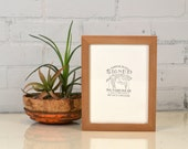 6x8 inch Solid Wood Picture Frame in Peewee Style with Natural Finish - IN STOCK - Same Day Shipping - 6 x 8 Sale Frame