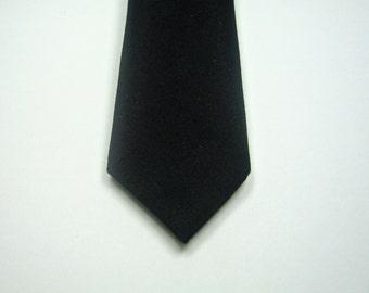 Skinny Black Necktie Skinny Black Tie Mens Neckties Skinny Black Linen Necktie Wedding Neckties Many Colors Custom Neckties