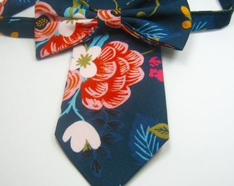 Navy Ties Navy Floral Neckties Navy Tie Mens Navy Floral Tie Mens Navy Neckties Navy Neckties Wedding Neckties Navy Bow Ties