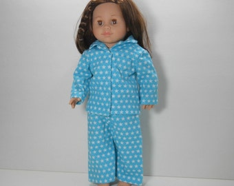 18 inch doll clothes made to fit dolls such as American Girl®, Blue Star Pajamas, 04-0193