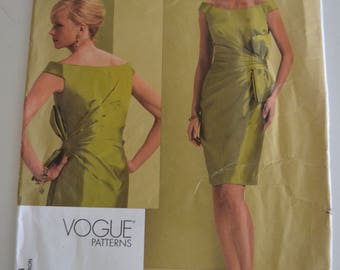 Vogue V1108 Bellville Sassoon Lined Straight Fitted Dress Sewing Pattern Size 12 - 18 UNCUT