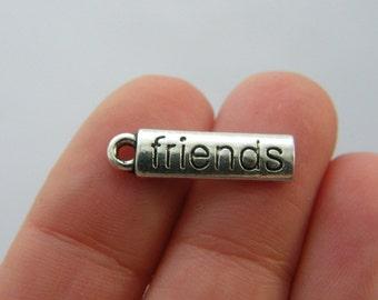 10 Friends charm antique silver tone M790