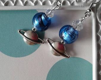 Solar System Earrings,Planet Earrings,Alien Earrings,Universe Earrings