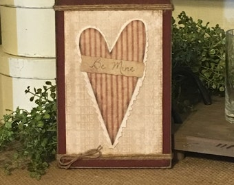 valentines day decorvalentines day giftvalentines day heartprimitive signrustic