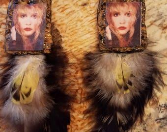 Always Been A Storm, Stevie Nicks, feather earrings, magic, Rock Goddess, music jewelry, Witch, Moon Sister, Gypsy, Boho, Fleetwood Mac, zen