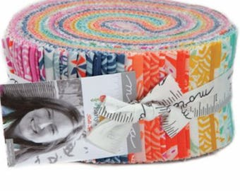 "Early Bird Jelly Roll by Kate Spain for Moda Fabrics 27260JR 40 2.5"" x 42"" Fabric Strips"