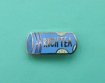 Packet of Rich Tea Biscuits Enamel Pin
