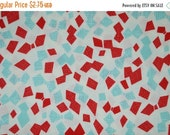 Sale up to 40% off Irome Spring Large scale geometric mint ruby by Kokka one half yard cotton quilt fabric