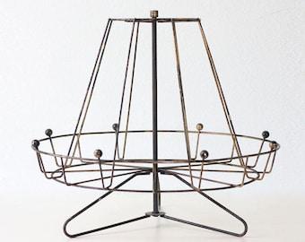 Vintage Carousel Display Rack, Retro Atomic Style