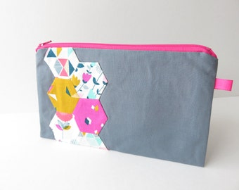 Hexie 'Cotton Candy' Zippered Pencil Case
