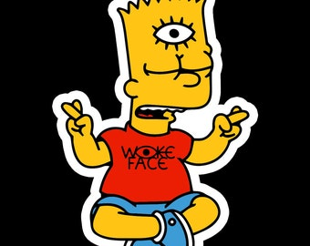 woke bart simpson sticker
