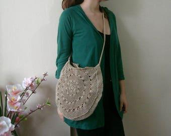 Crochet Lace Bag, Round Bag, lacy bag Purse, handmade Crochet shoulder bag, Hand Crochet  Purse