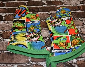 Kids Teenage Mutant Ninja Turtle Oven Mitt Set