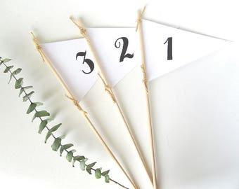 Pennant flag Table Numbers