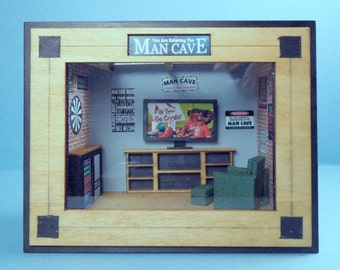 Framed Man Cave 1:48 Scale MEGA Round Table Kits