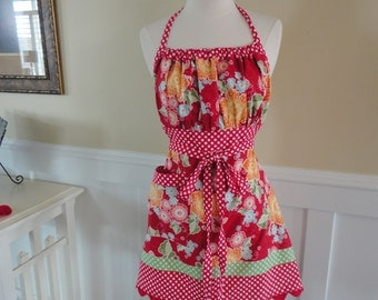May Flowers ~ Gathered Gabrielle - 4RetroSisters Womens Full Apron