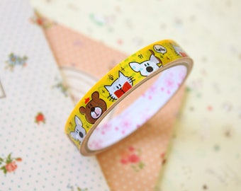 Cute Bears colorful cartoon deco tape