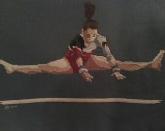 Gymnast Cross-Stitch Larisa Iordache Romania