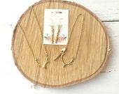 Reserved for Kathy - Deer Antler Gift Set